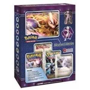 From the Manufacturer                  Are you ready to train one of the most powerful Pokemon of all time? Then Mewtwo is the Pokemon for you. In the Pokemon Trading Card Game: Mewtwo Collection, you'll find the Genetic Pokemon as a spectacular collectible figure and an awesome oversized card. Plus, you get 3 booster packs from the Pokemon TCG: Black and White Series expansions and a specially selected foil Stadium card featuring both Mewtwo and Kyurem to break the code and tr