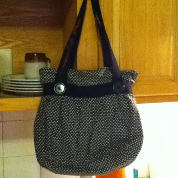 American Eagle Outfitter Handbag Heart Printed With Two Big Buttons. Cute!!! American Eagle Outfitters Bags
