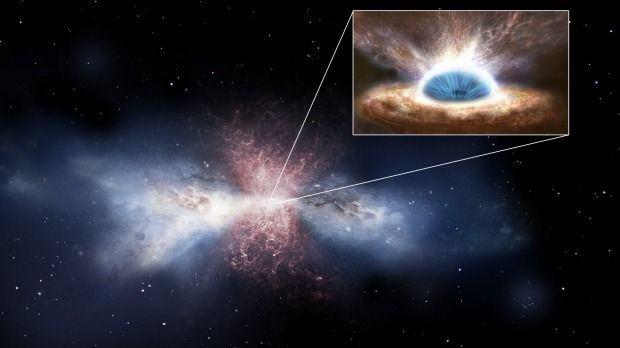 """This is the first time that we have seen a supermassive black hole in action."""