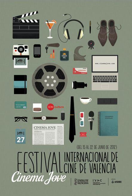 27th Cinema Jove Film Festival Valencia-based design studio Casmic Labwas commissioned to develop an extensive campaign design for the 27th Cinema Jove Film Festival in 2012.