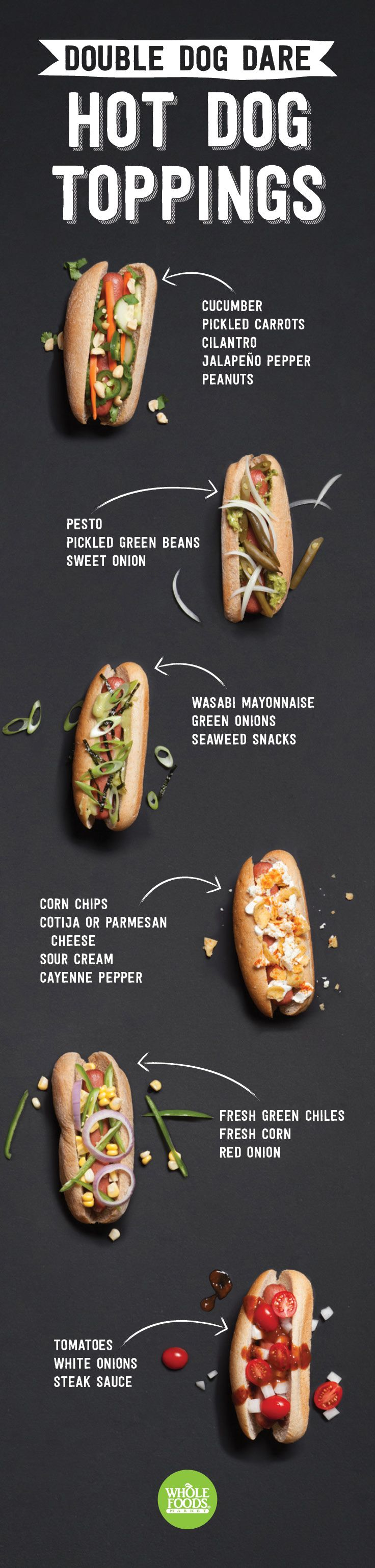 Seems super appropriate for National Hot Dog Day, right?! If you're trying to come up with a killer recipe and/or delicious and new ways to top your dogs, look no further. We've got inspirations from Thai food, German, Latin, Japanese, and all sorts of other global flavors!