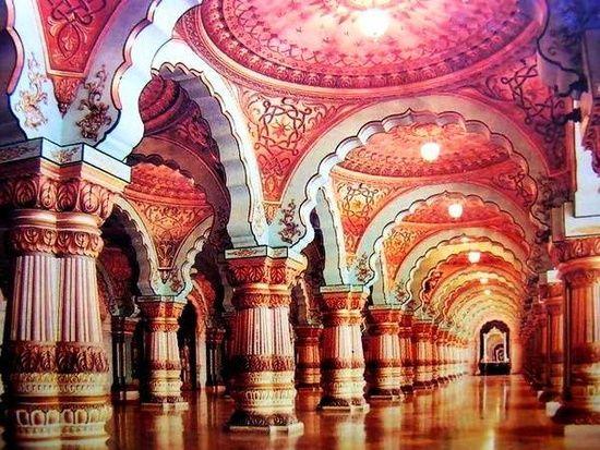 Maharaja-a-Mysore palota, India