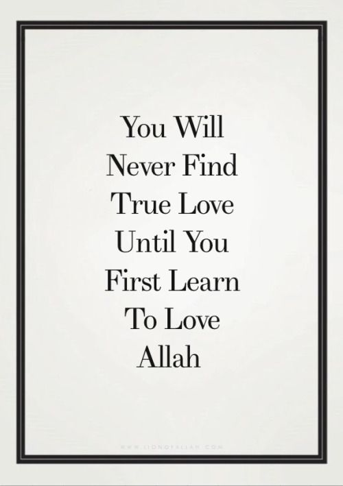 Learn to love Allah before everything. www.lionofAllah.com