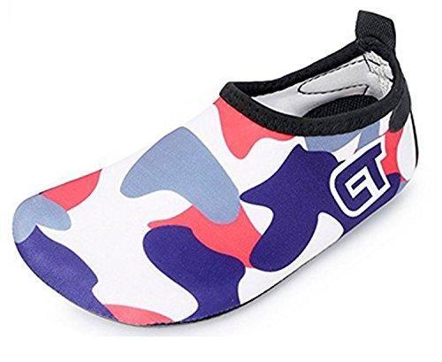 Oferta: 7.99€. Comprar Ofertas de ECOTISH Zapatos Agua de Natación Infantil para Niños Niñas Slip on Suave Zapatillas Deportivos Acuático para Playa Piscina Za barato. ¡Mira las ofertas!