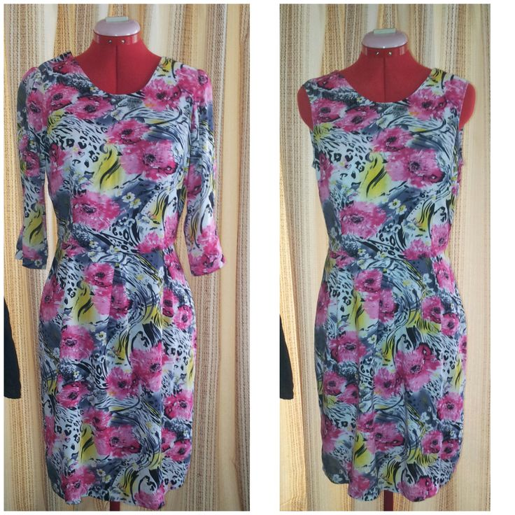 An upcycle for a lovely client. She's a kindred spirit. She bought this dress vintage. She loved the print but thought that the sleeves created too much print, and the puffed sholders and 3 quarter length, were a bit dated. I couldn't agree more. So off with thd sleeves. I also adjusted the shoulders. I hope she'll just love this dress, now. {alteration by Hour Glass Sewing}