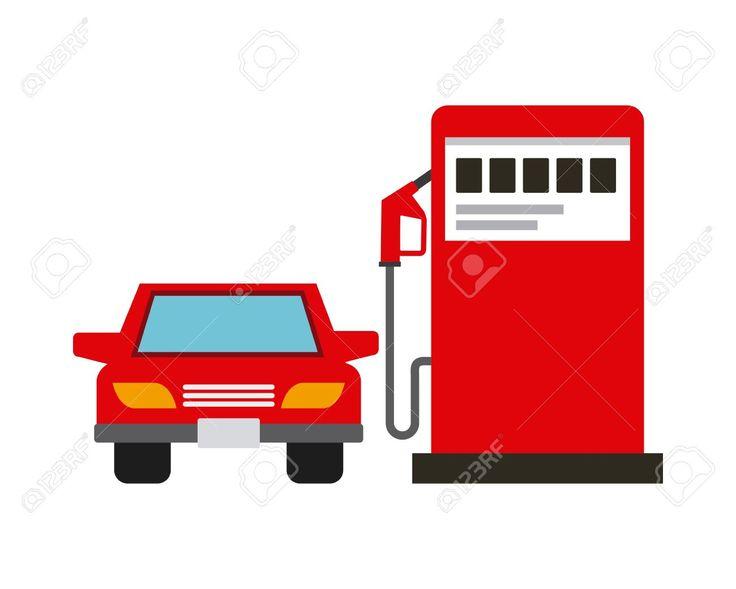 насосной станции газа и значок автомобиля автомобиль на белом фоне. красочный дизайн. векторные иллюстрации Клипарты, векторы, и Набор Иллюстраций Без Оплаты Отчислений. Image 67887785.