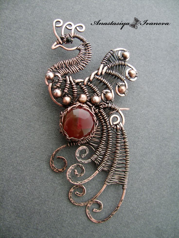 Beautiful Copper Wire Wrapped Peacock!
