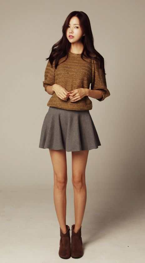 Spring fashion trend - skirts and delicate knits #springessentials