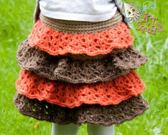Crochet skirt pattern easy ruffle skirt pattern by ktandthesquid