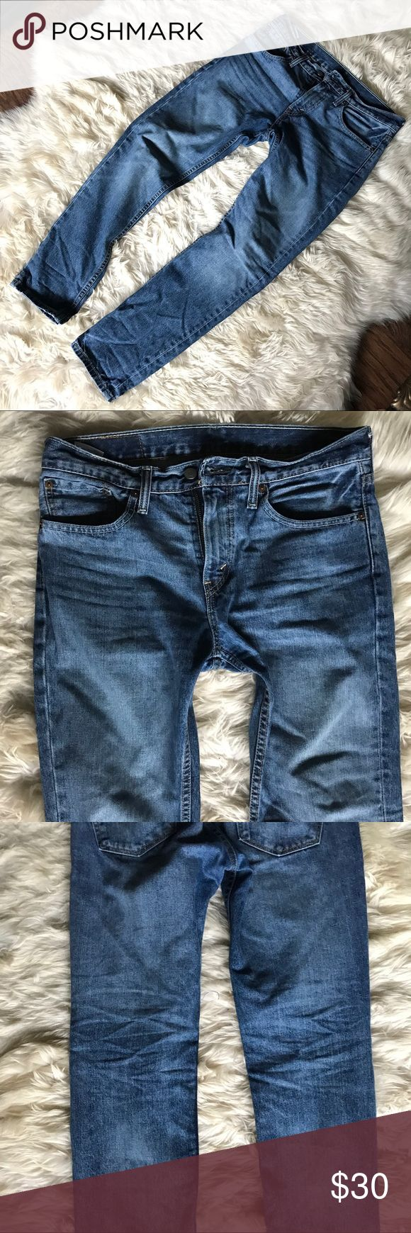 Levi's 511 Slim Fit Denim Jeans Stiff denim material. Lightly used, stylish jean with a great wash (faint dye markings behind knee and bottom near hem made to look like wrinkles) and slight distress in very small areas, all factory made. Size 31x30. Like new Levi's Jeans Slim
