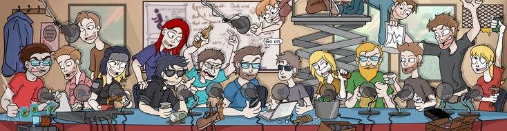 Rooster Teeth Podcast cast by Toonlancer.deviantart.com on @deviantART