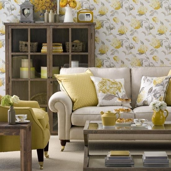 Sunny yellow living room | Great schemes with mix-and-match living room chairs | housetohome.co.uk