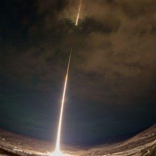 Dramatic View of a NASA Rocket Launch over Alaska