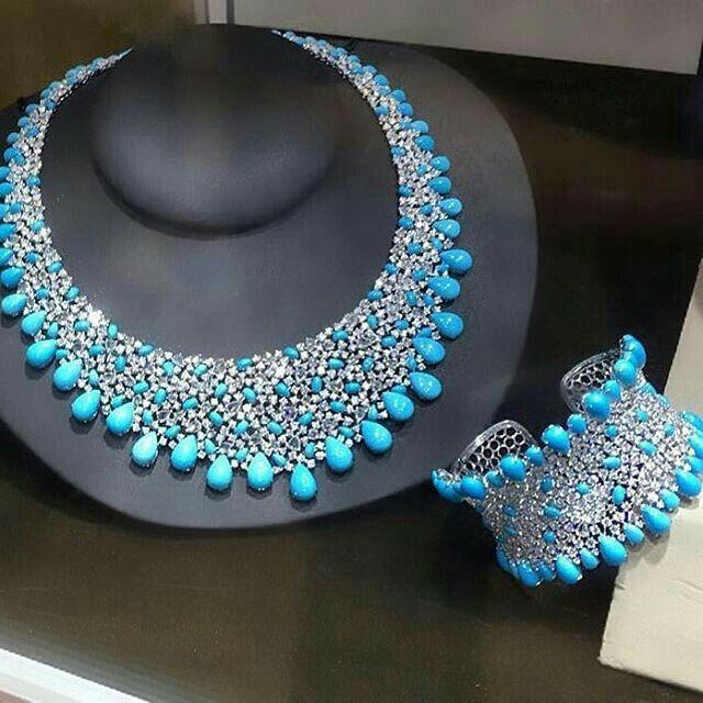 Borgee turquoise and diamonds.