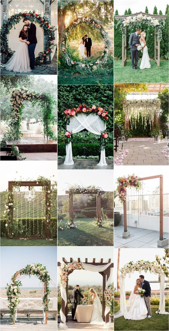 26 Floral Wedding Arches Decorating Ideas – e