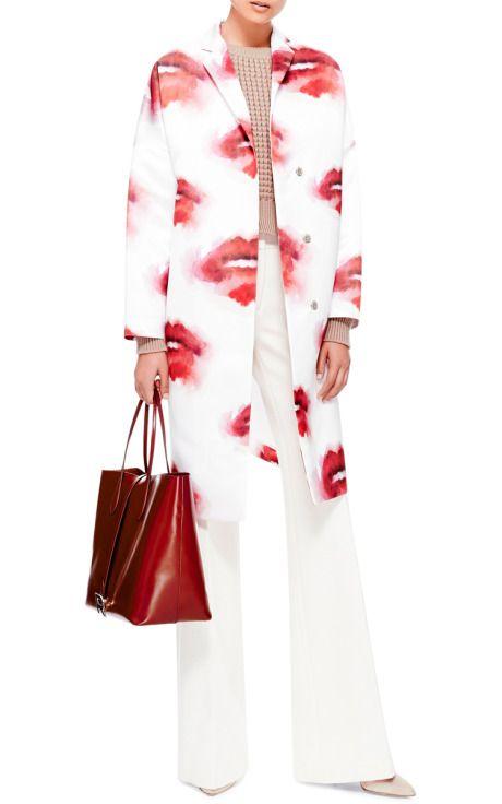 Printed Duchesse-Satin Coat by MSGM - Moda Operandi