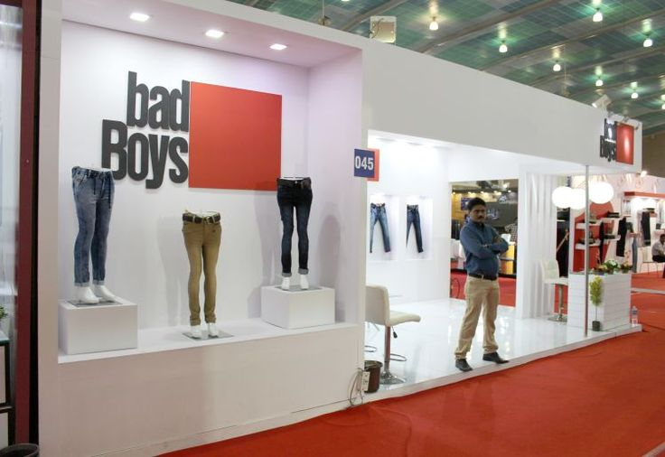 Creative Exhibition Stall Design and Fabrication for garment brand - design bad
