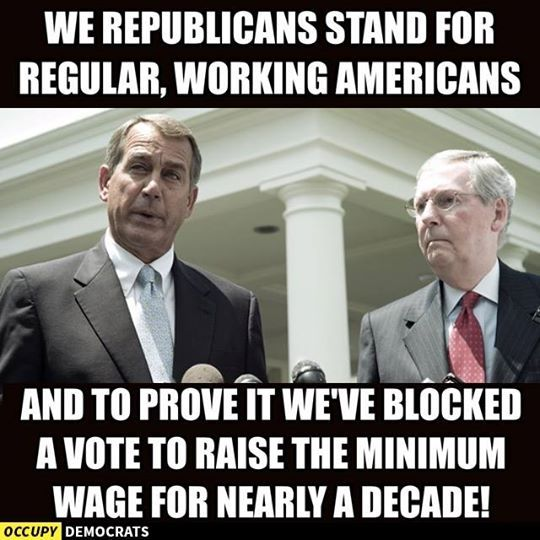 If the workers qualify for food stamps your tax dollars support them...that doesn't cost the 1% a dime because they don't pay taxes. This is why Republicans won't raise the minimum wage, but have convinced their ignorant base to hate the poor for using the assistance Republicans force them to use !