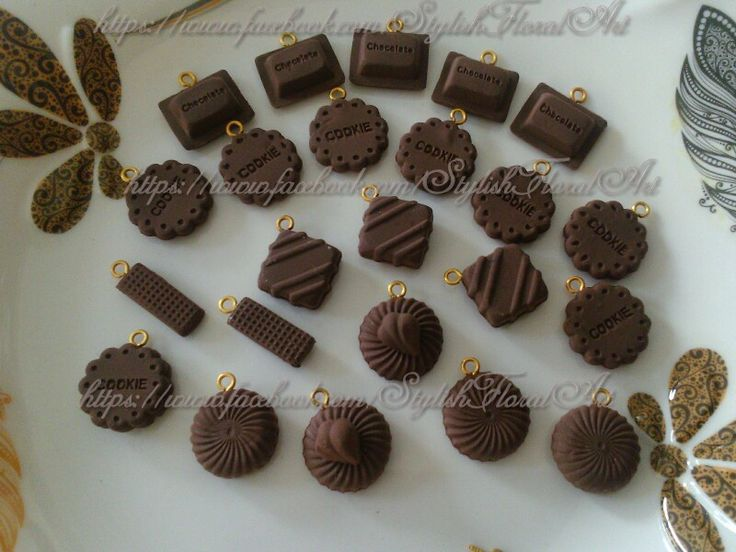 Paper clay decoden charms ready to make jewellery