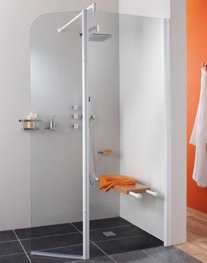 Principe paroi douche l 39 italienne avec banc et paroi - Paroi de douche italienne leroy merlin ...