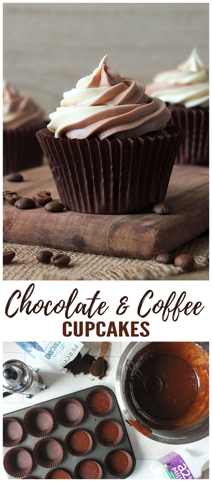 In collaboration with a2 Milk™ & Percol Coffee. #ad #cupcake #recipe #chocolate #coffee