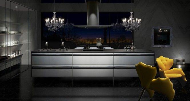 Steel Kitchen In Modern Luxury Architecture Style