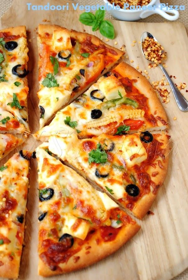 US Masala: Tandoori vegetable paneer pizza ~ all homemade!