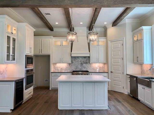 Covington Louisiana kitchen island custom cabinets pendant ...