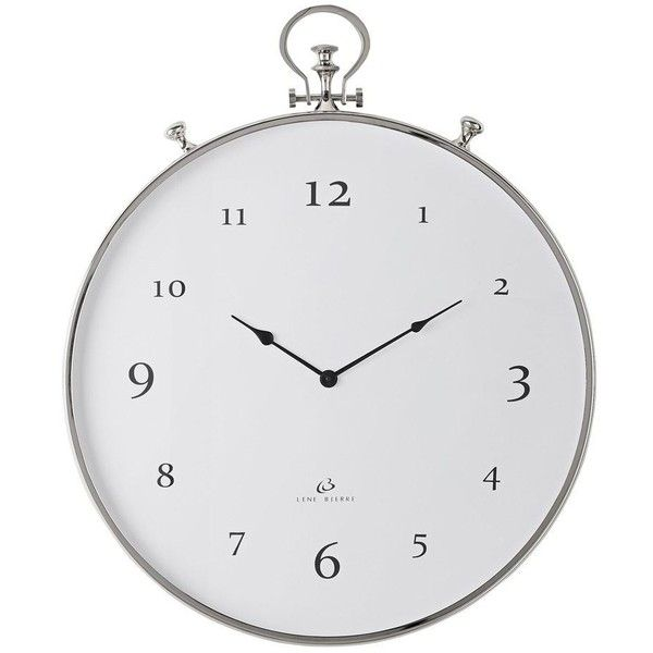Lene Bjerre Clotilde Clock Round Silver Steel 61x73cm 305 Liked On Polyvore Featuring Home Home Decor Cloc Silver Wall Clock Best Wall Clocks Wall Clock
