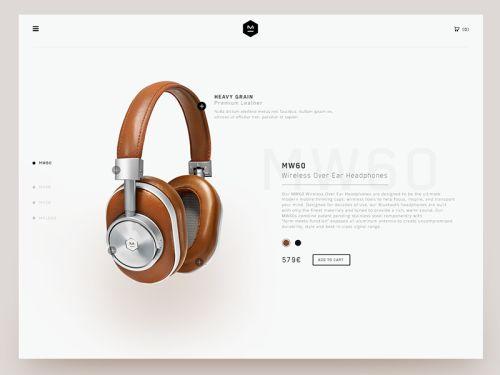 Product page by @Valentin_SLN web #ui #inspiration #interface #web #design