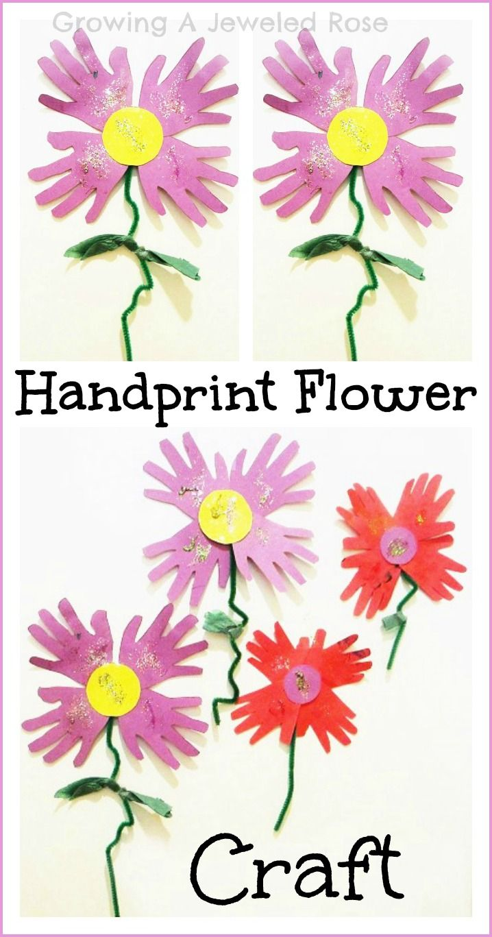 Growing A Jeweled Rose: Hand Print Flowers for Spring  Jenni,  thought maybe your mother-in-law would love these made out if the babies hands to help her heal....
