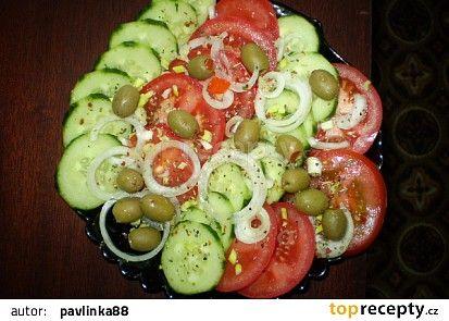 Zeleninový salát s cibulí recept - TopRecepty.cz