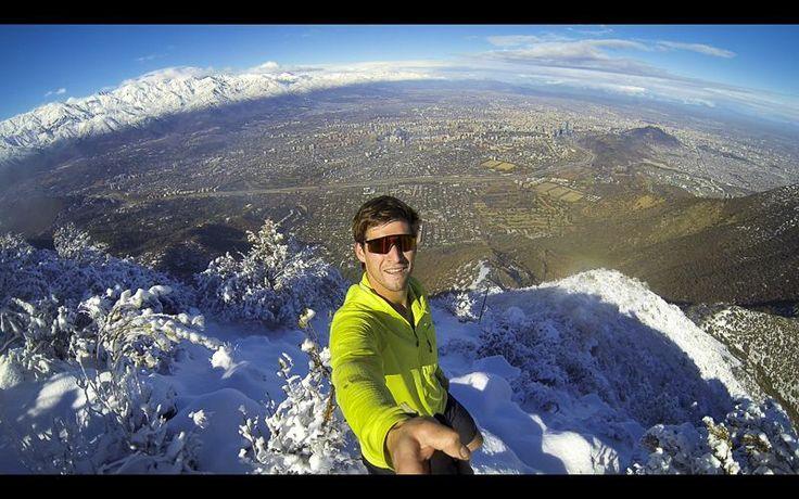 Jeremías en el cerro #Manquehue #nieve #fotografia #foto #selfie