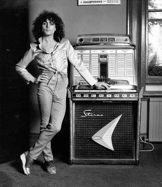 Marc Bolan of T-Rex and jukebox Photograph by Bill Orchard