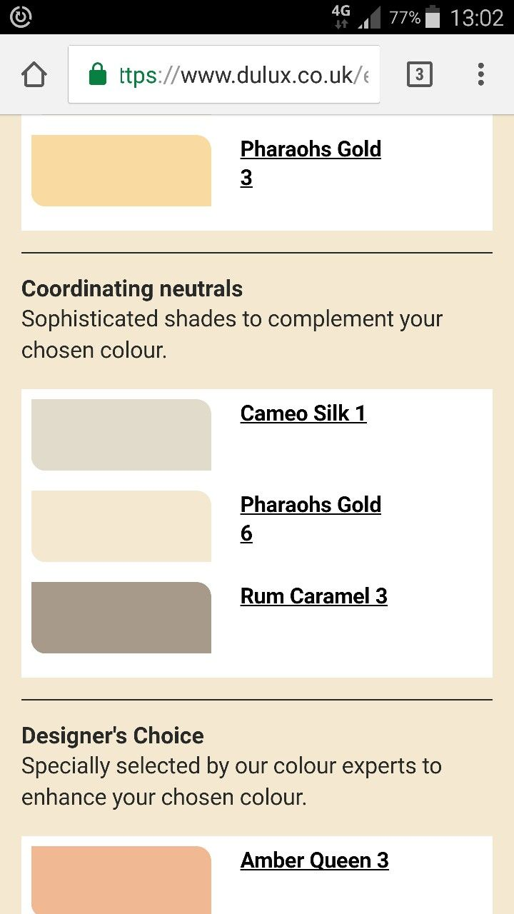 Dining room colour scheme #pharohsgold #rumcaramel