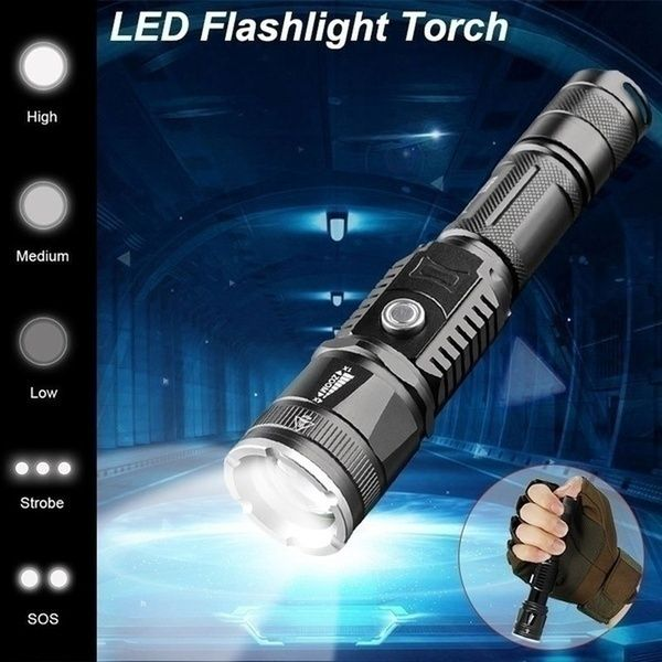Led 58000000lm Torch Phone Usb Charging Flashlight Linternas Lampe Torch Charger Rechargeable Battery Or Only One Flashlight Wish Flashlight Usb Charging Light Flashlight
