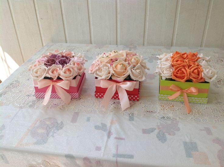 rose box, DIY, rózsadoboz, habrózsa, anyák napja