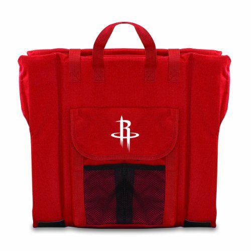 NBA Houston Rockets Portable Stadium Seat, Red  https://allstarsportsfan.com/product/nba-houston-rockets-portable-stadium-seat-red/  Celebrate your favorite NBA team with team logoed merchandise from Picnic Time NBA portable stadium seat in team colors with digital print team logo Insulated, padded seat provides full back support