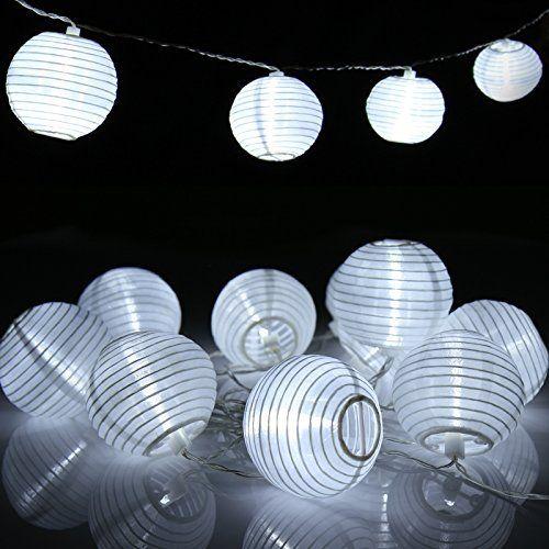 Jago – Guirlande Lumineuse LED Solaire pour Extérieur Lampions Chinois Blancs (20 lampes): Price:14.95Un éclairage époustouflant dans le…