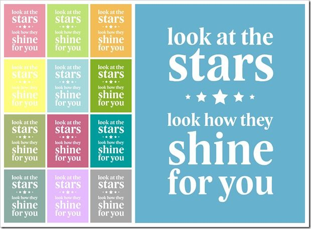 Lyrics that remind me of my dad. Not only because when I look at the twinkling start I think of his twinkling eyes, but also because I introduced him to Coldplay and we loved to listen to it together.