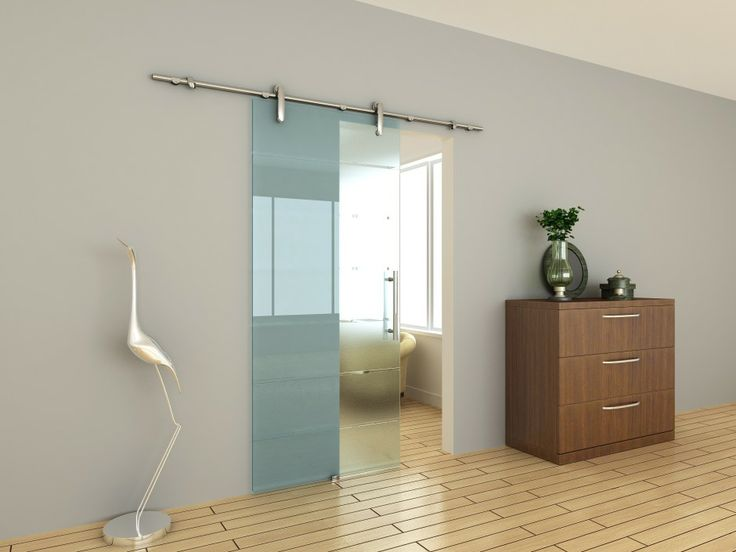Sliding glass door for kitchen entrance assessed for Porte coulissante en verre pour salle de bain
