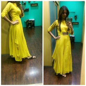 """97 Likes, 14 Comments - shweta Malpani (@6shweta) on Instagram: """"Simple and super comfortable cottons..outfit from @sunainasood  #yellow #cotton #maxi #sunshine…"""""""