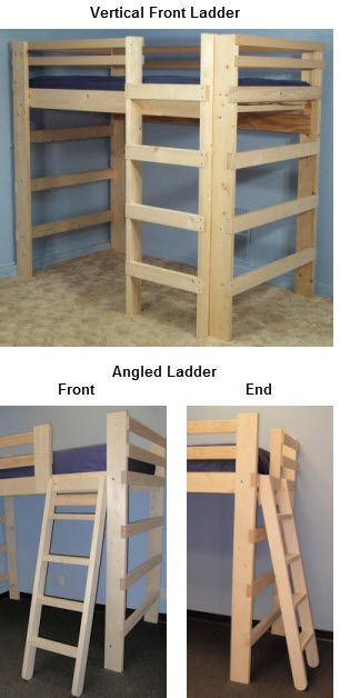 Customizable Loft Beds Starting at $349 for Full-Sized (additional cost for add-ons)