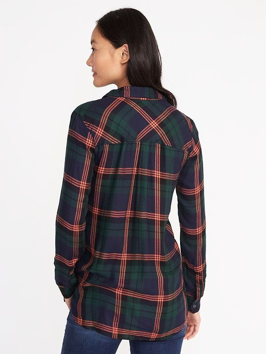 Relaxed Plaid Shirt for Women