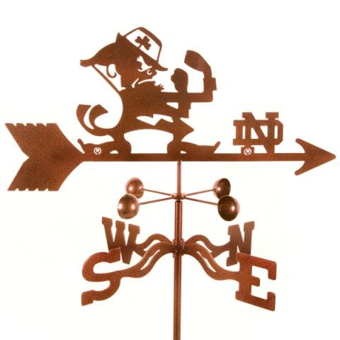 """University of Notre Dame Fighting Irish weathervane. Like the Irish? Be sure to check out and """"LIKE"""" my Facebook Page https://www.facebook.com/HereComestheIrish Please be sure to upload and share any personal pictures of your Notre Dame experience with your fellow Irish fans!"""