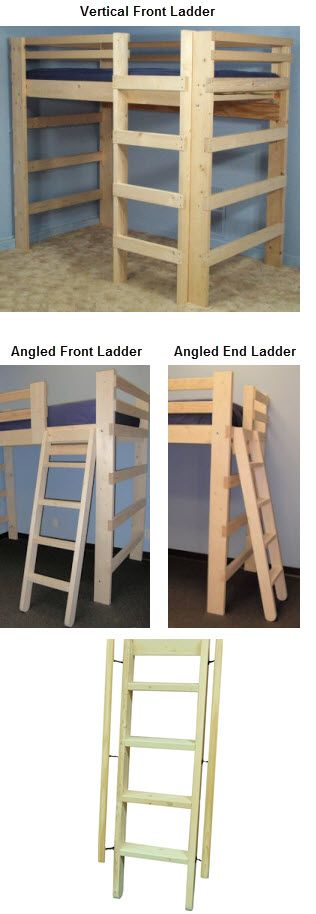 Queen Size Durable Loft Bed In Pine 1000 Modify To 7ft