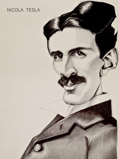Nicola Tesla Caricature Ballpoint pen