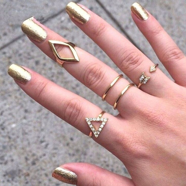 5pcs crystal women knuckle rings female stacking punk ring #HSN