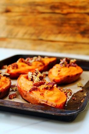 twice baked vanilla whipped sweet potatoes.