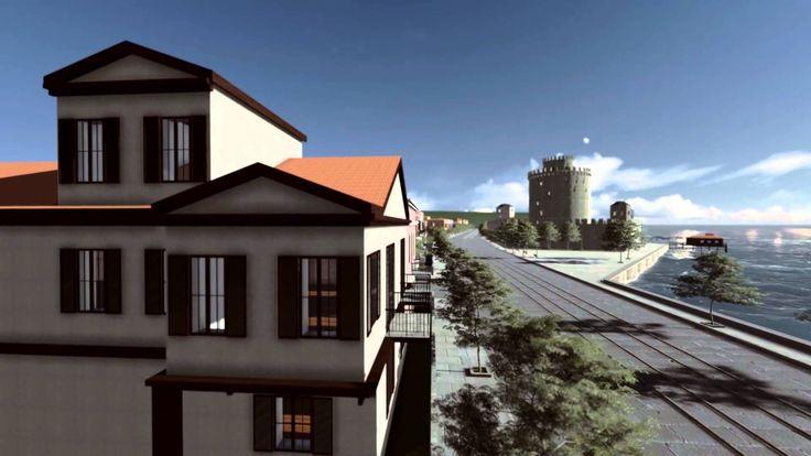 3D Αναπαράσταση Λευκού Πύργου, Θεσσαλονίκη, αρχές 20ου αιώνα.